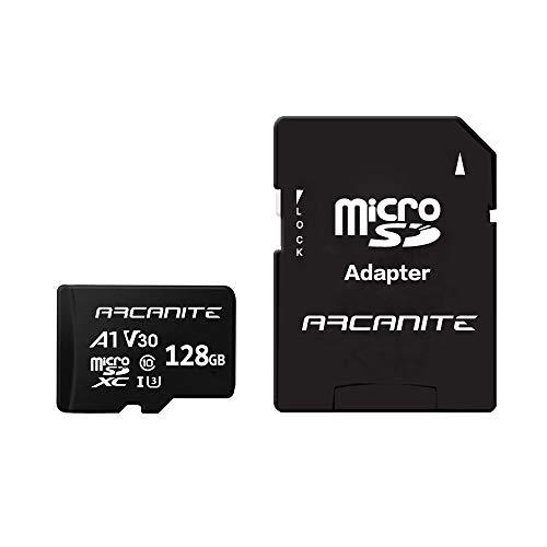 ARCANITE 128 GB microSDXC-Speicherkarte mit Adapter - A1, UHS-I U3, V30, 4K,...