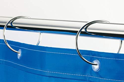 Spirella Duschvorhangringe 12 Stück Chrom Ringo - Passend für alle gängigen...