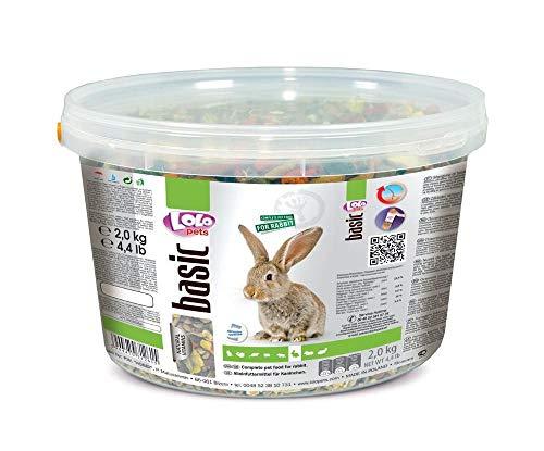 Lolo Basic Complete-Futter Für Kaninchen, 3 L, 2 Kg Eimer, Getreide, Futter,...