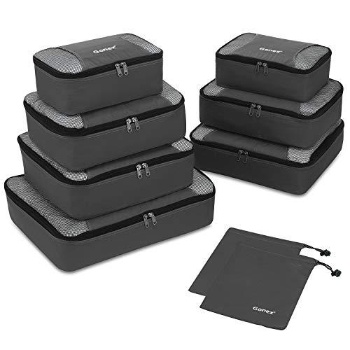 Packing Cubes 9-teilig, 2 zusätzliche Beutel, Kleine, mittelgroße, große und...
