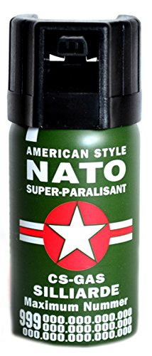 RSonic Pfefferspray 40 ml KO-Spray Reizgas CS Gas Verteidigungsspray NATO Pepper...