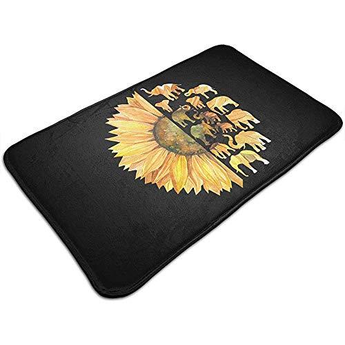Liumt Sunflower Elephant Fußmatte Dekorativer Rutschfester Badteppich 40cm *...