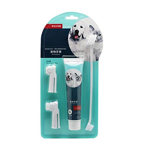 PanDaDa Natürliche essbare Hundezahnpasta und Zahnbürstenset für...
