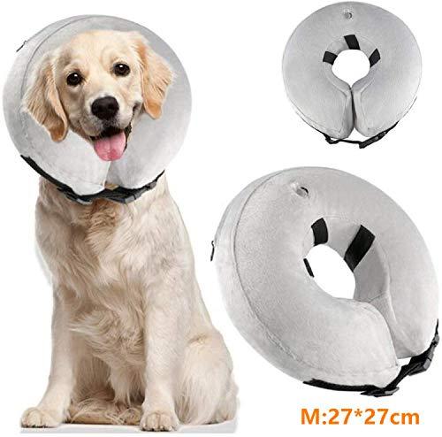 Aigoo Aufblasbares Halsband für Hunde und Katzen, verstellbar, waschbar (M 27 x...