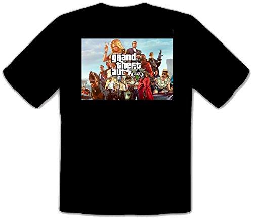 GTA V GTA 5 Grand Theft Auto 5 Rockstar Jogos Games Schwarze Kinder T-Shirt...