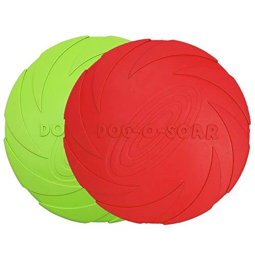 Vivifying Hundefrisbee, 2 Stück 18cm Hunde-Frisbee aus Natürlichem Kautschuk...