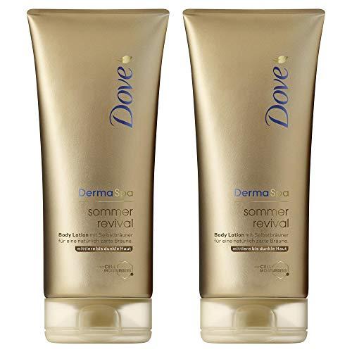 Dove DermaSpa Body Lotion für mittlere bis dunkle Hauttypen Sommer Revival mit...