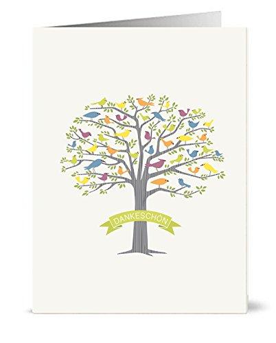 20 Recycelte Danksagungskarten - 20 faltbare Danksagungskarten mit passenden...
