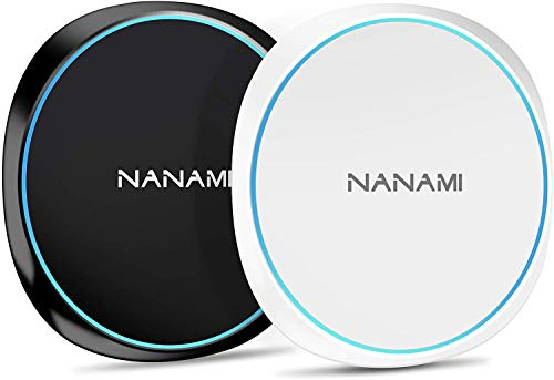 NANAMI Wireless Charger Ladepad, [2-Pack] Qi Induktive Ladestation für iPhone...
