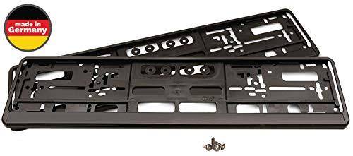 2 Kennzeichenhalter Auto Set eTopio inkl. 4 Schrauben | Nummernschildhalter für...