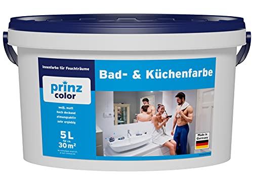 prinzcolor Premium Bad & Küchenfarbe Badfarbe Küchenfarbe Feuchtraumfarbe...