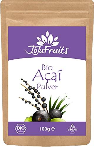 Acai Pulver Bio (100g) - JoJu Fruits - (Vegan, Glutenfrei, Laktosefrei)...