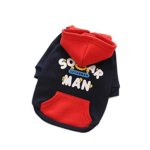 YABAISHI Dog Sweater Cotton Plus Samt mit Kapuze gedruckt Pet mit Kapuze T-Shirt...