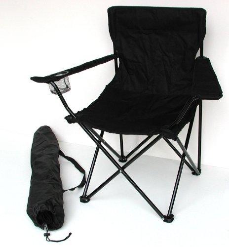 Anglersessel, Campingstuhl - klappbar mit Getränkehalter und Tragetasche -...