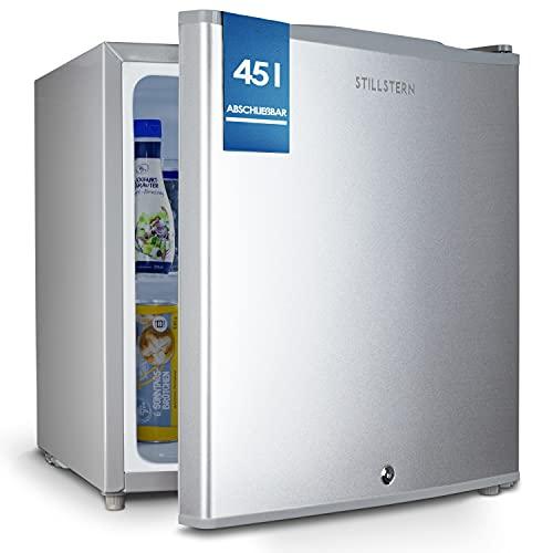 Stillstern Mini Kühlschrank E 45L mit Abtauautomatik, Schloss, Frostfach,...