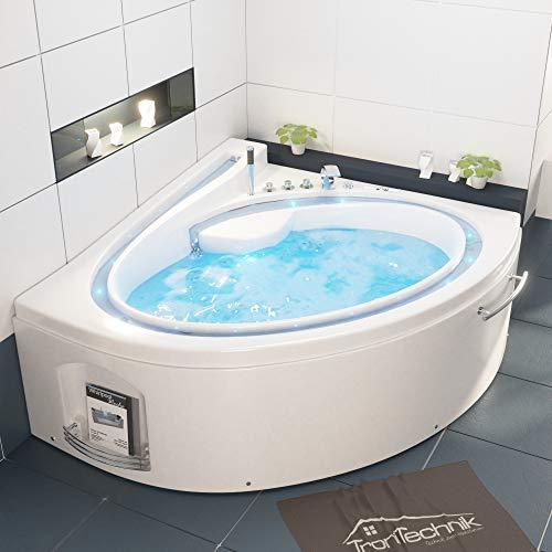 Tronitechnik Whirlpool Badewanne Hydra 165cm x 148cm inkl. Heizung,...