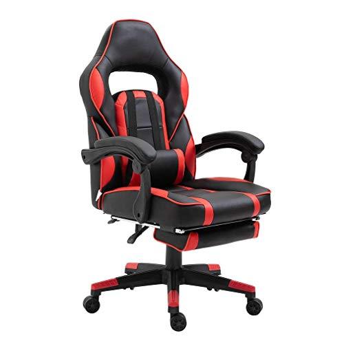 Gaming Stuhl mit Fußstütze, Bürostuhl, Schreibtischstuhl, Ergonomischer...