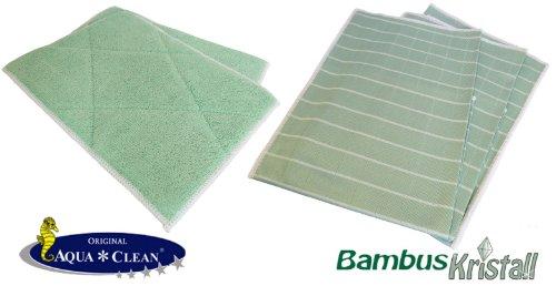 Aqua Clean Bambus Kristall Tücher 5er Set | Bambus Kristall...