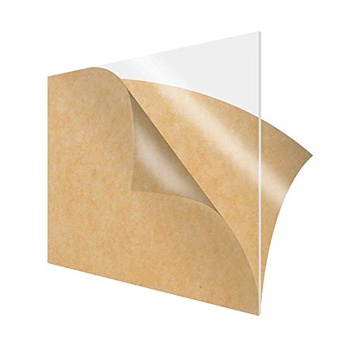 Wzqwzj Acrylic Sheet Transparente Plexiglasplatte, Plastikblatt mit schützendem...