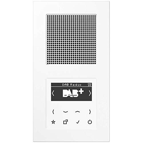 Jung Smart Radio DAB Komplett-Set Weiß DABA1WW mit 1 Lautsprecher und 2-Fach...