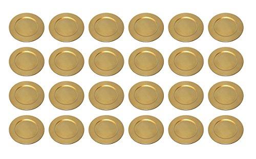 TAMLED Platzteller used look Dekoteller Ø 33 cm gold Set in wiederverwendbarem...