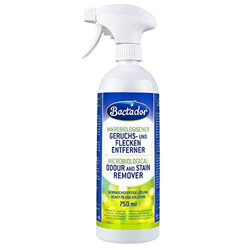 Bactador Geruchsentferner & Fleckenentferner Spray 750ml - Biologischer...