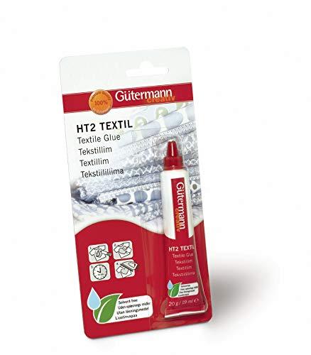 Gutermann GUT 1 639826 HT2 Creative Textilkleber (20ml/19g), rot, 20ml
