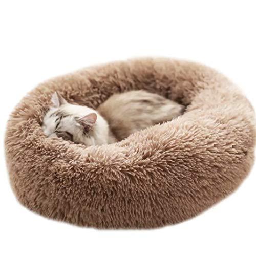 Cebilevin Hunde Katze Haustierbett Weich Plüsch, Super Soft Cushion Round Oder...