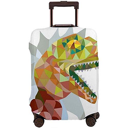 Reisegepäckhülle Buntes Mosaik Wild Trex öffnet den Mund Jura Pixel...