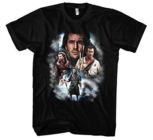 Mel Gibson Männer und Herren T-Shirt   Vintage Braveheart Mad Max Retro Kult...