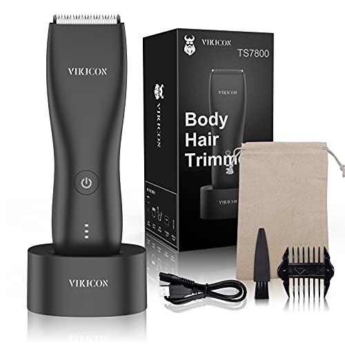 VIKICON Bodygroom Elektrischer Intimrasierer für den Mann, Intim-Haartrimmer...