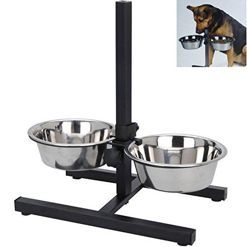 Smartweb Futterstation Hund inkl. 2 x 1,5 Liter Näpfen Hundenapf Fressnapf...