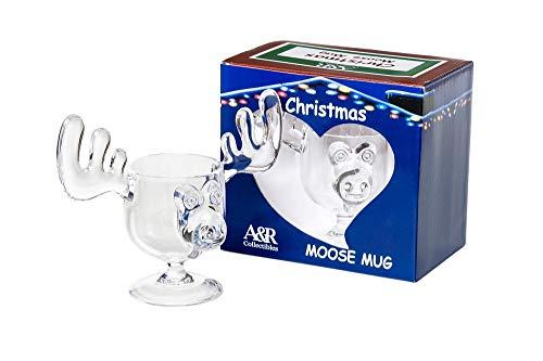 Weihnachtliche Tasse mit Elch-Motiv in Eiernog-Optik, in Geschenkbox, sicherer...