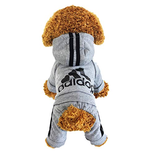 LifeWheel Hundemantel Warm Wintermantel Haustier Mantel Hund Kleider, Grau S