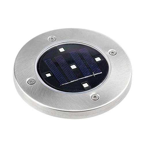 Solar Powered Stainless 5 LED Bodeneinbauleuchte wasserdicht for im Freien...