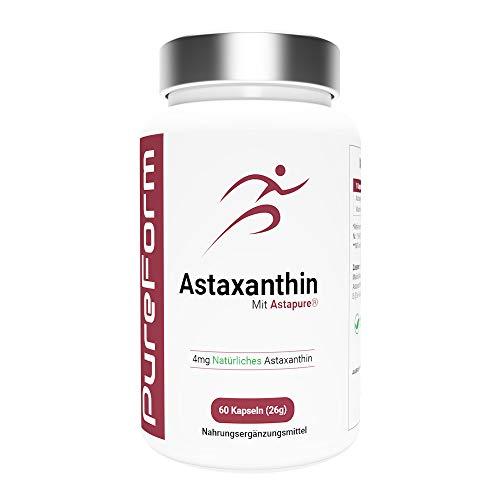 Astaxanthin 4 mg Kapseln mit AstaPure - hochdosiertes Antioxidans - 60 softgel...