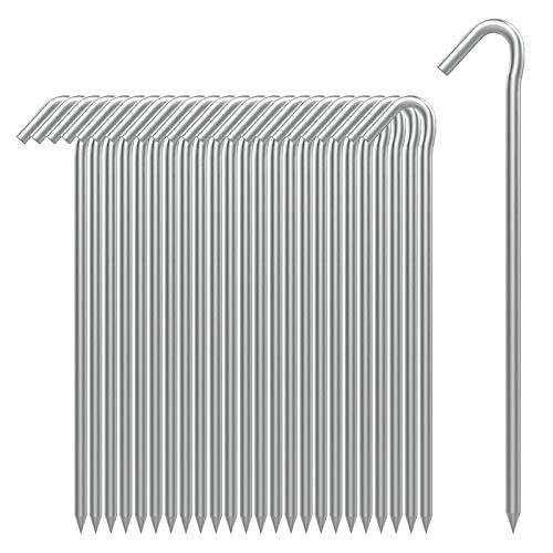 AAGUT Zeltheringe, robuste Metallheringe, Zaunhaken, verzinkt, 22,9 cm, 6 Ga...