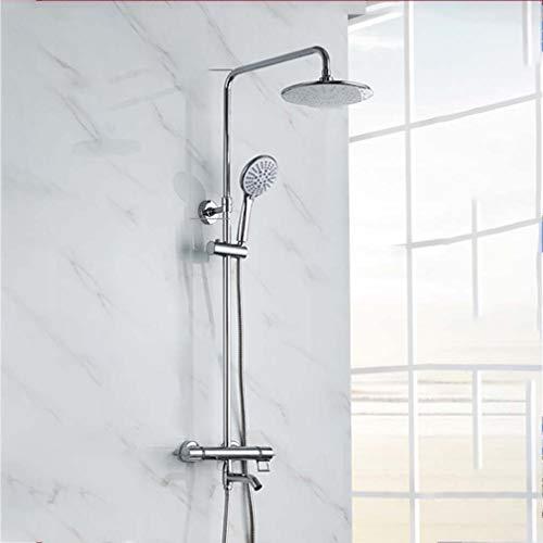 YDYG Thermostat Duschsystem, Kreis Brausenthermostat mit Duschkopf und...