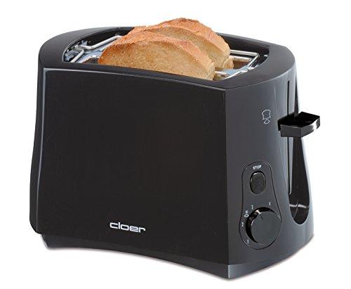 Cloer 3310 Cool-Wall-Toaster / 825 W / für 2 Toastscheiben / integrierter...