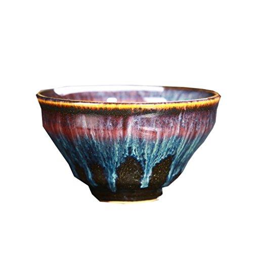 Gxy Geprägte hellgraue Keramikschale Suppenschüssel Home Obstsalatschüssel...