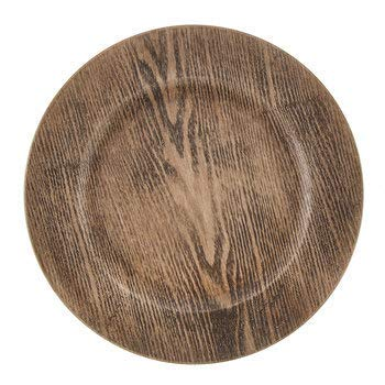 4 Stück Holz Deko Platzteller Rustikal Hochzeit Holz Design Charger