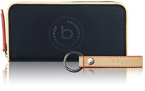 Bugatti Lido Geldbörse Damen Groß RFID - Frauen Geldbeutel mit Reißverschluss...