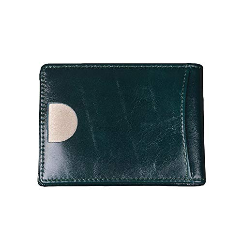 Btruely Shopper Schwarz Leather Thin Minimalist Front Pocket Wallets Vintage...
