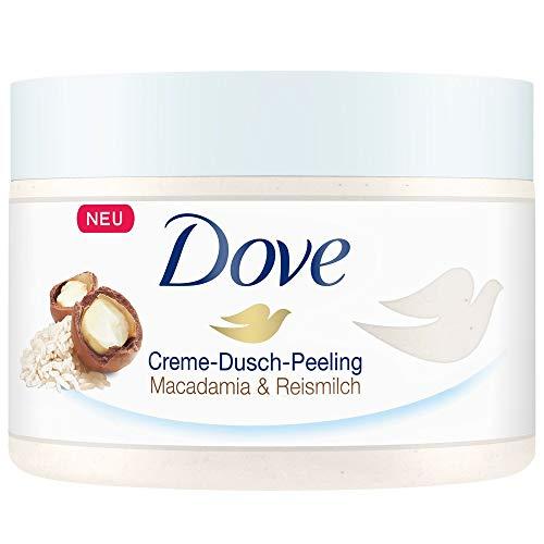 Dove Erfrischendes Dusch-Peeling Hautpeeling 4er Pack Macadamia & Reismilch für...