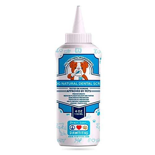 PAWTITAS Natürliches Hundezahnpasta-Pulver verhindert Zahnstein, Zahnbelag,...