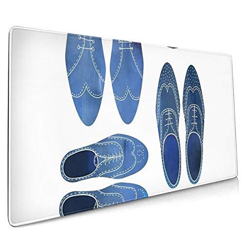SDwosibao Bigjpg_4x_art_high_blue Brogue-Schuhe, übergroß, 40 x 75 cm,...