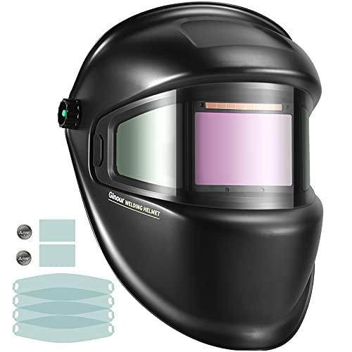 Automatik Schweißhelm, Ginour Solar Schweißmaske mit 4 Sensoren, Optische...