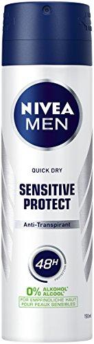 NIVEA MEN Sensitive Protect Deo Spray im 6er Pack (6 x 150 ml), Antitranspirant...