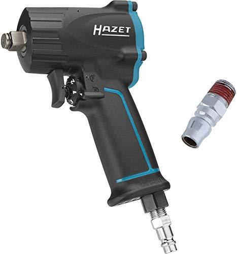 HAZET Druckluft-Schlagschrauber (extra kurz (92 mm) I max. Lösemoment 1100Nm,...