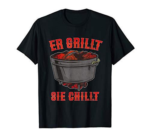 Herren Dutch Oven Feuertopf Dopfen Griller Geschenkidee BBQ T-Shirt